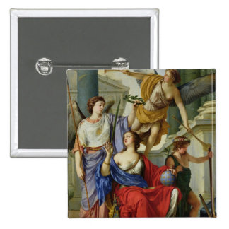 Allegory of the Regency of Anne of Austria  1648 Button