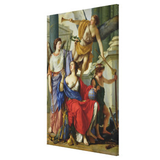 Allegory of the Regency of Anne of Austria  1648 Canvas Print
