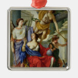 Allegory of the Regency of Anne of Austria  1648 Christmas Ornament