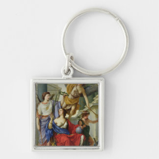 Allegory of the Regency of Anne of Austria  1648 Silver-Colored Square Keychain