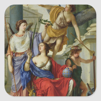 Allegory of the Regency of Anne of Austria  1648 Square Sticker