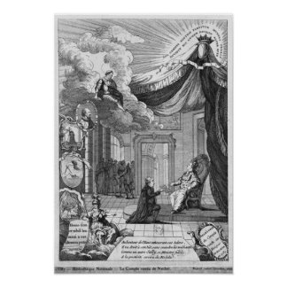 Allegory of the Report Given to Louis XVI Print