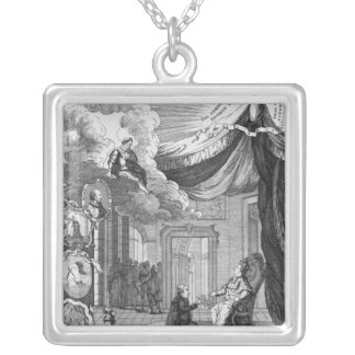 Allegory of the Report Given to Louis XVI Silver Plated Necklace