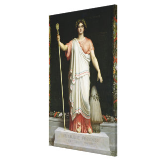 Allegory of the Republic, 1848 Canvas Print