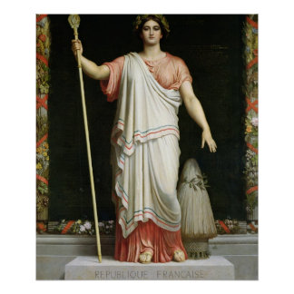 Allegory of the Republic, 1848 Poster