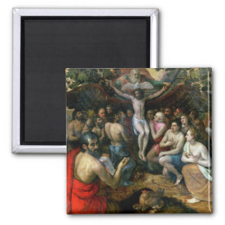 Allegory of the Trinity (oil on panel) Refrigerator Magnet
