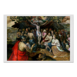 Allegory of the Trinity (oil on panel) Poster