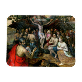Allegory of the Trinity (oil on panel) Rectangular Magnets