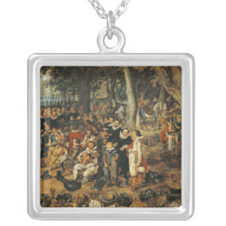 Allegory of the Truce of between the Silver Plated Necklace