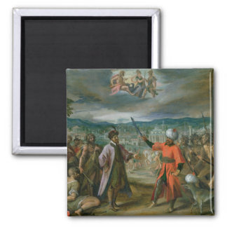 Allegory of the Turkish Wars 2 Inch Square Magnet
