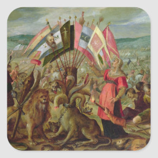 Allegory of the Turkish Wars Square Sticker