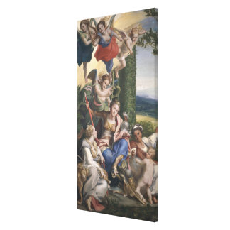 Allegory of the Virtues, c.1529-30 Canvas Print