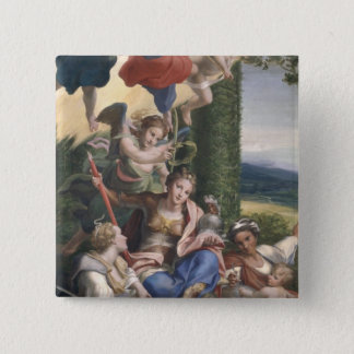 Allegory of the Virtues, c.1529-30 Pinback Button