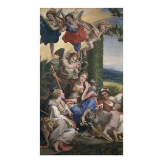 Allegory of the Virtues, c.1529-30 Poster
