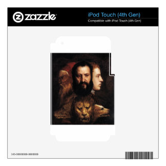 Allegory of Time Governed by Prudence by Titian Decal For iPod Touch 4G
