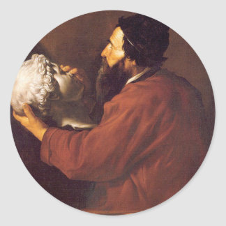 Allegory of Touch by Jusepe de Ribera Classic Round Sticker