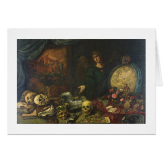 Allegory of Vanity, 1650-60 (oil on canvas) Card