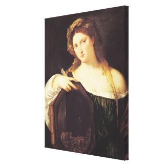 Allegory of Vanity Canvas Print