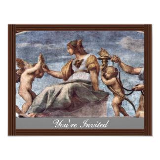 Allegory Of Virtue By Raffael (Best Quality) Custom Announcement