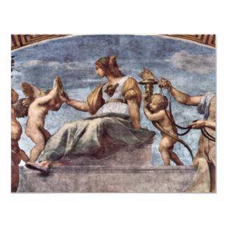 Allegory Of Virtue By Raffael (Best Quality) Custom Invites