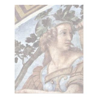 Allegory Of Virtue Detail By Raffael (Best Quality Letterhead Design