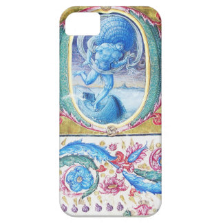 ALLEGORY OF WIND ANTIQUE FLORAL MINIATURE MONOGRAM iPhone SE/5/5s CASE