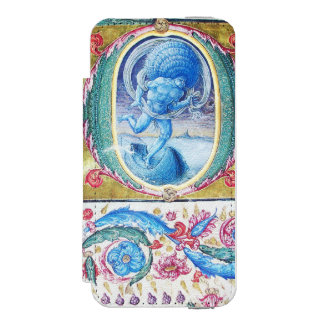 ALLEGORY OF WIND ANTIQUE FLORAL MINIATURE MONOGRAM WALLET CASE FOR iPhone SE/5/5s