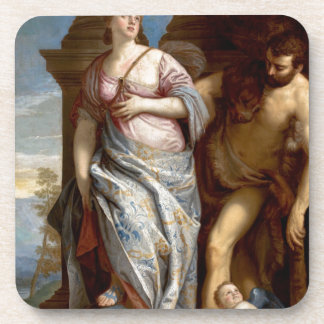 Allegory of Wisdom and Strength by Paolo Veronese Beverage Coasters