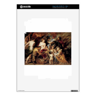 Allegory on the Blessings of Peace by Peter Paul iPad 2 Decal