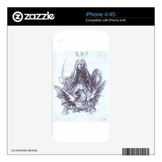 Allegory: War or Evil by Francisco Goya Skins For iPhone 4