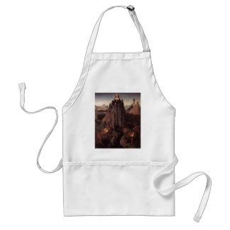Allegory with a Virgin by Hans Memling Adult Apron
