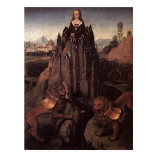 Allegory with a Virgin by Hans Memling Postcard