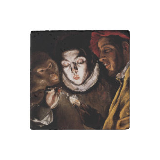Allegory with Boy Lighting Candle by El Greco Stone Magnet