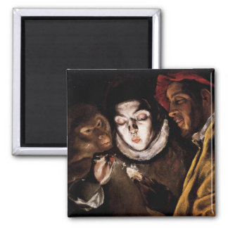 Allegory with Boy Lighting Candle by El Greco Magnets