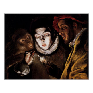Allegory with Boy Lighting Candle by El Greco Poster