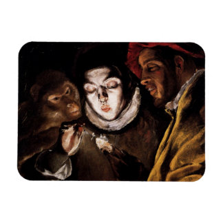 Allegory with Boy Lighting Candle by El Greco Flexible Magnets