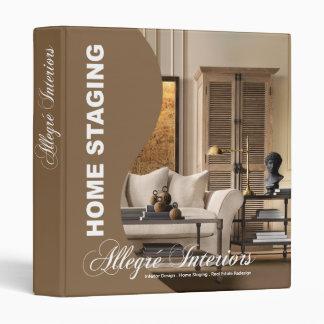 Allegré Curve Home Stager Interior Designer Binder