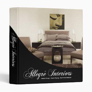 Allegré Home Stager Interior Designer 3 Ring Binder