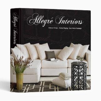 Allegré Home Stager Interior Designer 3 Ring Binders