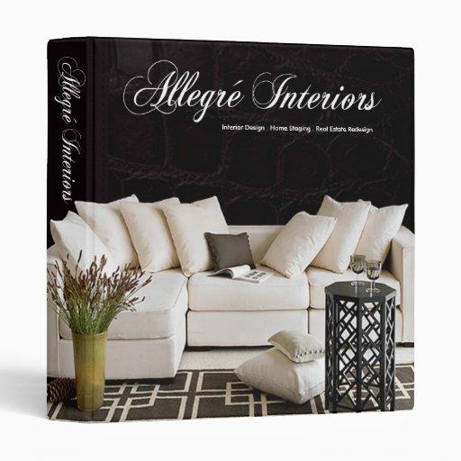 Allegr Home Stager Interior Designer Binder Zazzle