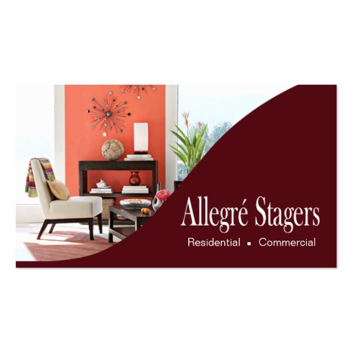 allegr stagers home staging interior design business card
