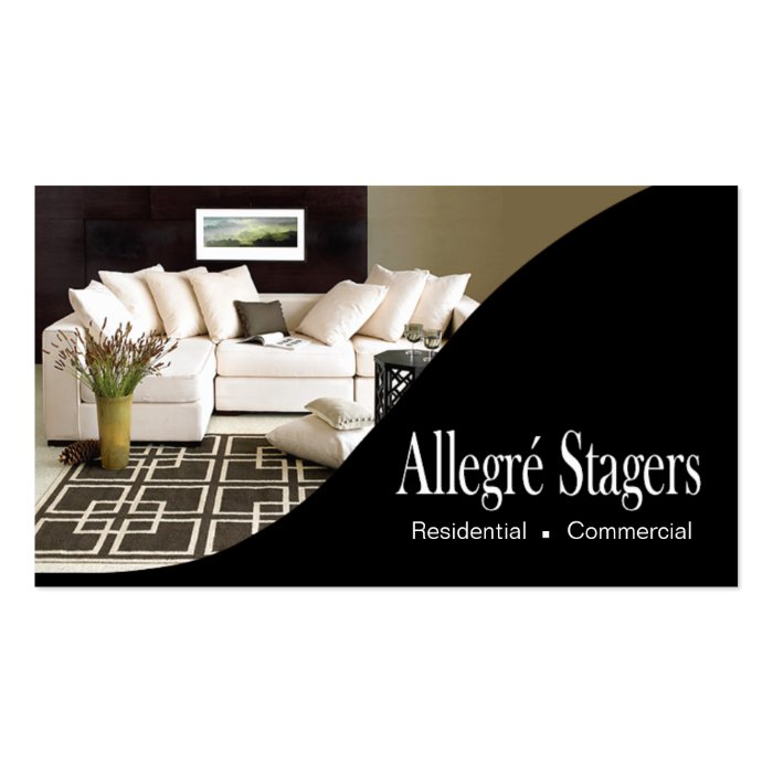 Allegré Stagers Home Staging Interior Design Business Card  Zazzle