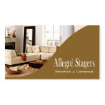 Allegré Stagers Home Staging Interior Design Double-Sided Standard Business Cards (Pack Of 100)