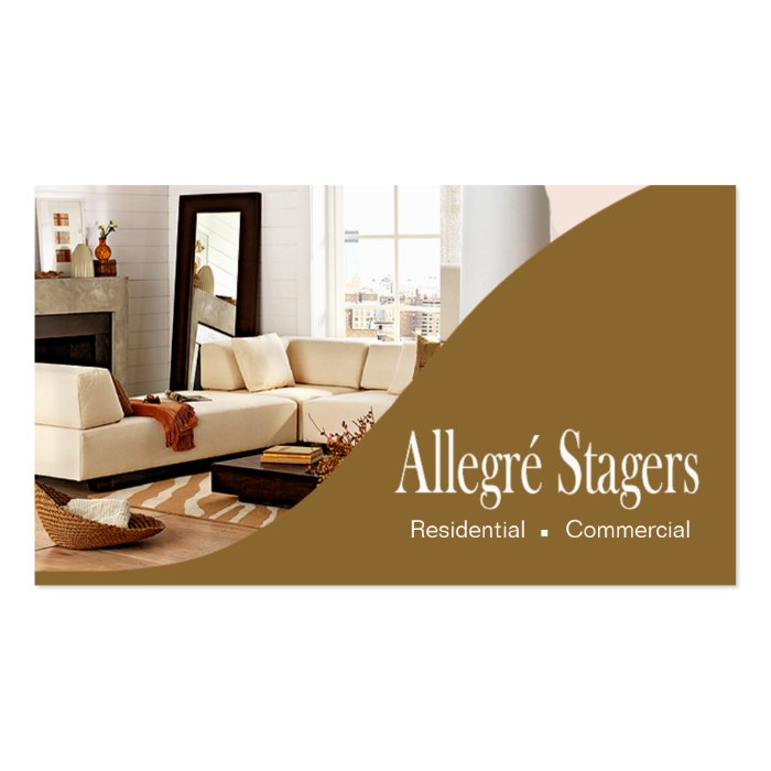 Allegr Stagers Home Staging Interior Design Business Card Zazzle