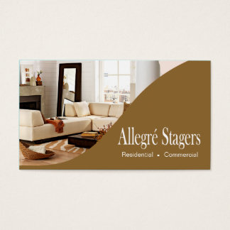 Allegré Stagers Home Staging Interior Design Business Card