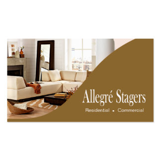 Allegré Stagers Home Staging Interior Design Business Card Template