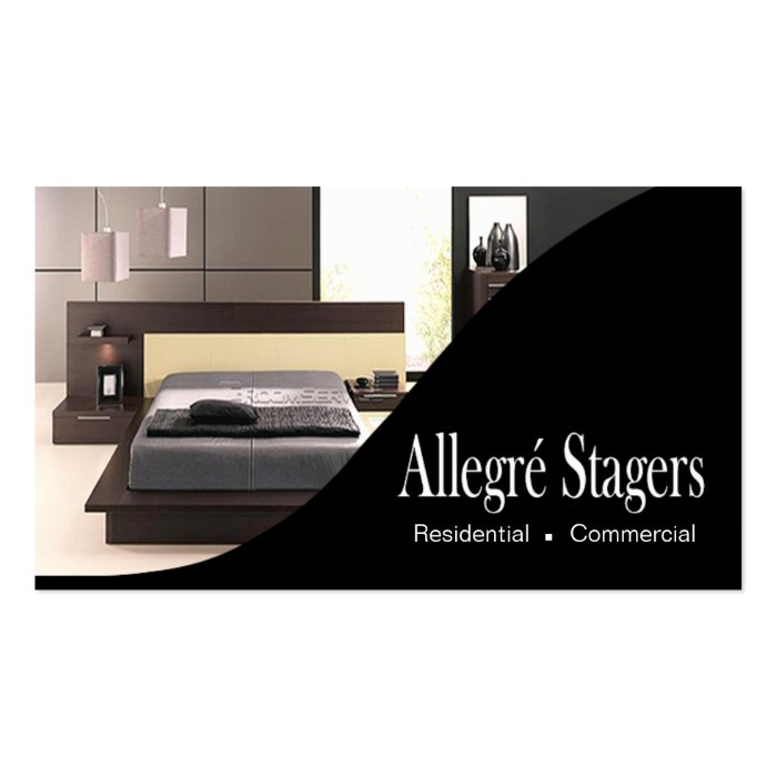 Home Staging Interior Design Business Card Templates