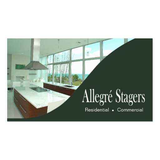 Allegr stagers home staging interior design business card for Home staging interior design