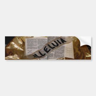 Alleluia (Bible & Sash) Bumper Sticker