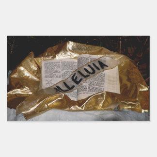 Alleluia (Bible & Sash) Rectangular Sticker